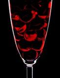 Glas- und Marmorkugeln stockfoto