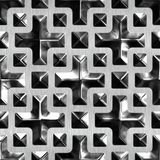Glas und Metall Stockbild