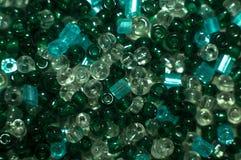 Glas- und Plastikperlen Lizenzfreies Stockfoto