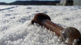 Glas und Schnee stockfotografie