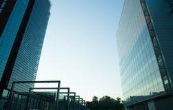 Glas und Stahl Stockbild