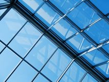 Glas und Stahl Stockfotos