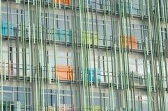 Glas- und Stahlbürohaus Lizenzfreies Stockfoto