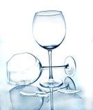 Glas- und unterbrochenes Glas stockbild