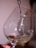 Glas und Wein Stockfoto