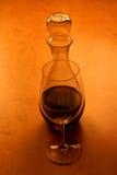 Glas und Wein Lizenzfreies Stockfoto