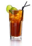 Glas van alcoholcocktail met kalk   royalty-vrije stock afbeeldingen