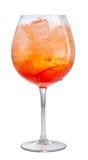 Glas van aperol spritz cocktail royalty-vrije stock foto