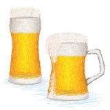Glas-van-bier Stock Afbeelding