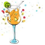 Glas van cocktail bij de partijdecoratie Stock Fotografie