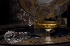 Glas van cognacalcohol Royalty-vrije Stock Fotografie