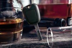 Glas van de auto het zeer belangrijke reeks opnieuw cognac Royalty-vrije Stock Afbeeldingen