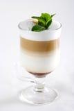 Glas van koffiecocktail Stock Afbeeldingen