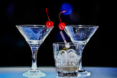 Glas van Margarita met kers Royalty-vrije Stock Foto
