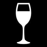 Glas van pictogram van de wijn het witte kleur Stock Foto's