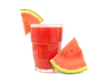 Glas van watermeloen smoothie royalty-vrije stock foto