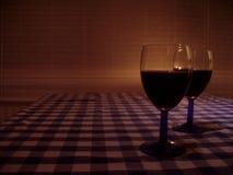 Glas-van-wijn Stock Fotografie