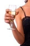 Glas van wijn en een meisje royalty-vrije stock foto