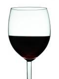 Glas van wijnclose-up Royalty-vrije Stock Foto's