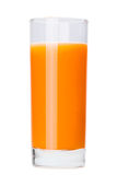 Glas vers wortelsap Geïsoleerdj op witte achtergrond Royalty-vrije Stock Afbeelding