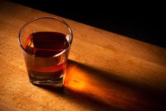 Glas vom Whisky Stockbilder