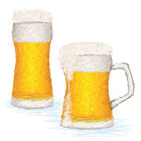Glas-von-Bier Stockbild