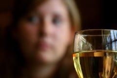 Glas von Chardonnay Lizenzfreies Stockbild