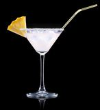 Glas von Pina Colada Cocktail Stockfoto