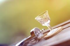 Glas voor gefacetteerde alcohol Royalty-vrije Stock Afbeelding