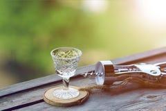 Glas voor gefacetteerde alcohol Royalty-vrije Stock Afbeeldingen