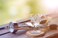 Glas voor gefacetteerde alcohol Royalty-vrije Stock Foto