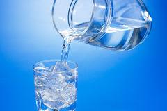 Glas water Stock Foto
