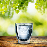 Glas Water Stock Fotografie