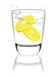 Glas water met citroen royalty-vrije illustratie