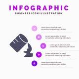 Glas, Water, Vochtig Stevig Pictogram Infographics 5 de Achtergrond van de Stappenpresentatie vector illustratie