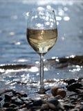 Glas weißer Wein Lizenzfreies Stockfoto