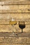 Glas weißer Wein Stockbild