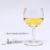 Glas weißer Wein Lizenzfreie Stockfotografie
