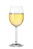 Glas weißer Wein stockfotografie