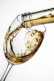 Glas Wein mit Spritzen Stockbild