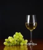 Glas Wein und Trauben Lizenzfreie Stockfotos