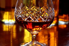 Glas Weinbrand A Stockfoto