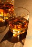 Glas Whisky Stockfoto