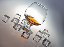 Glas whisky Stock Foto