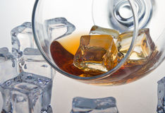 Glas whisky Royalty-vrije Stock Afbeeldingen