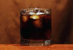 Glas Whisky Stockfotografie