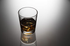 Glas Whisky Stockfoto