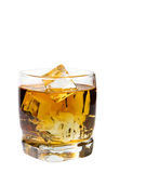Glas whisky Stock Foto's