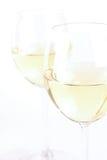Glas of white wine - studio shot Stock Photography