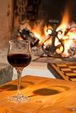 Glas wijn stock fotografie